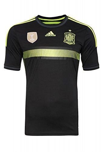 adidas Selección Española de Fútbol - Camiseta para Hombre, 2ª equipación, 2014, Color Negro, Talla XL