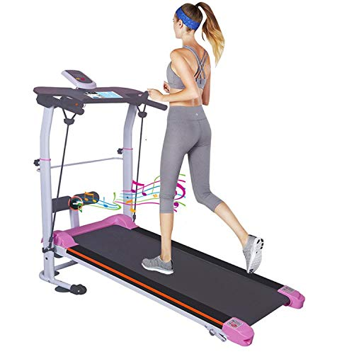 Berryhot Two-Wheeled Mechanical Treadmill Foldable Walking Machine with Audio for Home Office Use,Easy to Assemble,US Stock (Multicolor, as Shown)
