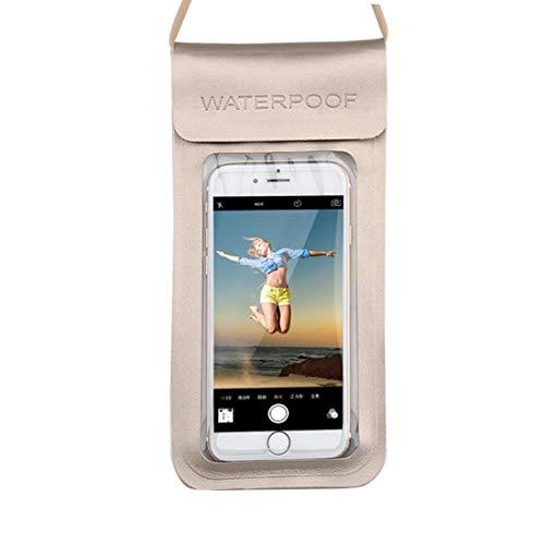 Xasclnis PU-telefoonhoesje, 2 stuks, waterdicht, transparant, TPU, touchscreen, voor zwembad in de open lucht