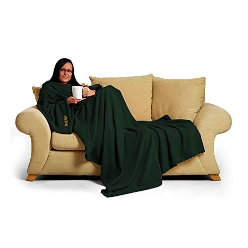 Snug Rug Deluxe en Polaire la Couverture avec Manches pour Adulte, mûre 60 x Porte, 214 x 152cm (Vert)