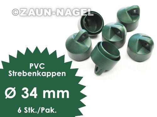 Strebenkappen PVC grün, Ø 34mm - Paket á 6 Stk.