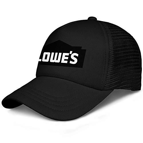 LHSPOSIFD Unisex Mens Baseball Hat Cotton Adjustable Mesh Flat Brim Lowe's-Logo-Flat Cap