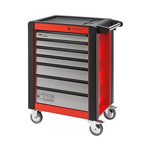 Stahlwille 95/6 - Werkstattwagen mit 6 Schubladen, Rot