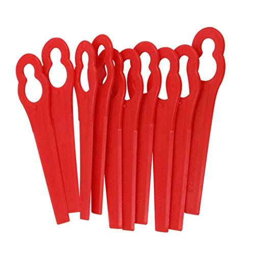 Vkospy 100pcs plástico Lawn Mower Trimmer Red Herramientas de jardín del césped Strimmer Accesorios Césped Clip de Repuesto