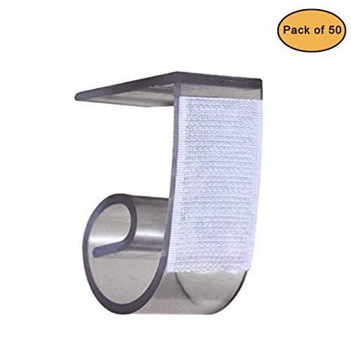 NAVAdeal Tisch Sockelleisten Clips Tischdecke Clips für Tabelle 3/10,2cm?5,1cm 50Stück