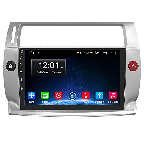 AWESAFE Android 10.0 [2GB+32GB] Radio Coche 9 Pulgadas con Pantalla Táctil para Citroen C4 2004-2009, con WiFi/GPS/Bluetooth/DSP/RDS/USB/FM Am/RCA, Apoyo Mandos del Volante, Aparcamiento