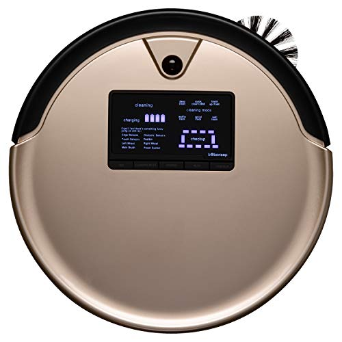 bObsweep PetHair Plus Robotic Vacuum Cleaner and Mop, Champagne