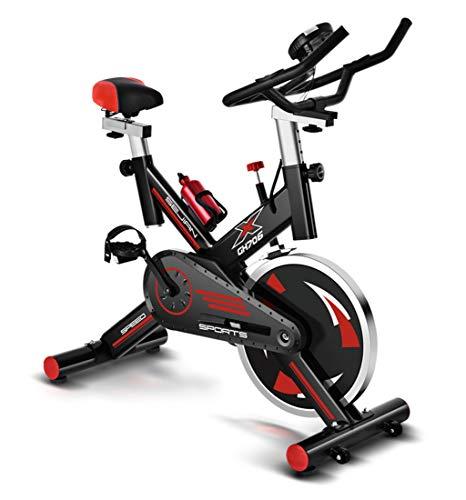 TTJZ Bike Indoor, Muto a Cinghia della Bici di Sport Cyclette, con Acciaio volano, Porta Cellulare, Sedile Regolabile e Maniglia, Display LCD