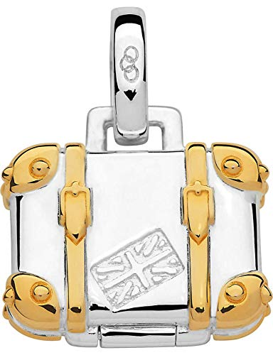 LINKS OF LONDON Sterling Silver 18ct Gold Vermeil Suitcase Charm RRP45 NEW