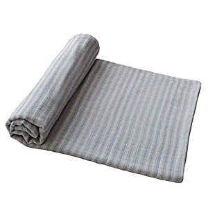 mushie Muslin Baby Swaddle Blanket | 100% Organic Cotton