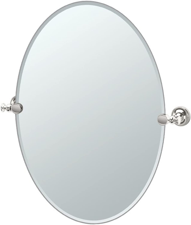 Gatco 4129 Tavern Oval Mirror, Polished Nickel