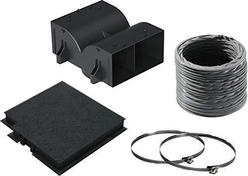 Bosch DWZ0DX0U0 Zubehör für Dunstabzüge / Standard Umluftset / für Umluftbetrieb / Aktivkohlefilter / Umlenkweiche / flex. Schlauch / Schlauchklemmen / Befestigungsmaterial