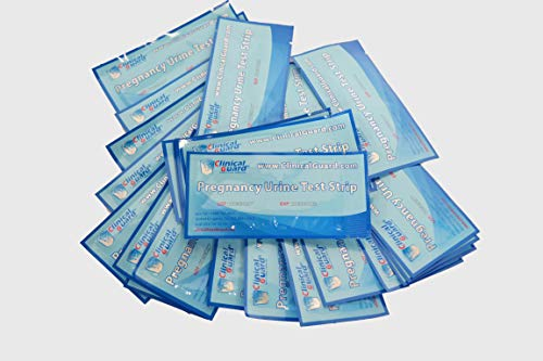 ClinicalGuard® HCG Pregnancy Test Strips (Individually-Sealed, Pack of 25)