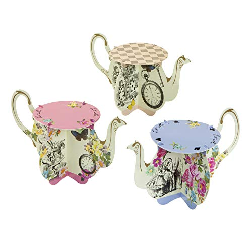 Truly Alice Teapot Cake Stands x 6 Alice in Wonderland Mad Hatters