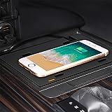 HAZYJT Accesorios Modificación Interior Placa De Alfombrilla De Carga Rápida para Teléfono De 15 W Cargador Inalámbrico Qi para Automóvil Compatible con To-yota Camry 2018-2021