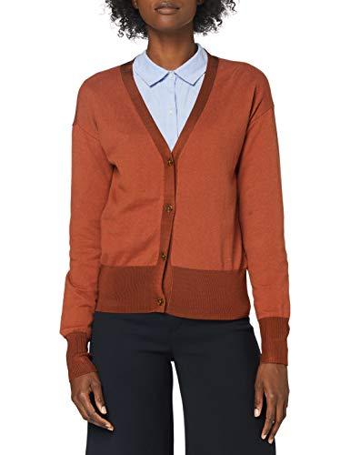 Scotch & Soda Maison Womens V-Ausschnitt aus Wollmischung Cardigan Sweater, Copper Melange 1312, S