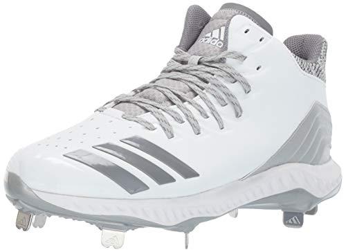 adidas Men's Icon Bounce, White Grey, 10.5 M US