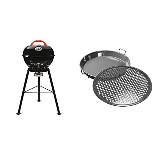 "Outdoorchef Gasgrill ""City 420 G"" – Kugelgrill mit Trichtersystem für saftige Steaks ohne Wenden – Ø 42 cm mit 4.3 kW & Grillzubehör, Gourmet Set 420, 2-teilig, schwarz, 37x8,5x7,7 cm"