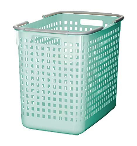 Like-It Scandinavia Style Square Basket, 12.2' x 18.70' x 15.47', Mint Blue
