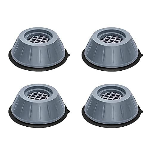 4 unidades de lavabo, antideslizantes, almohadillas para secar los pies, almohadilla antivibración, alfombrilla de goma, soporte para lavadora antiwalk, 8 x 4 cm