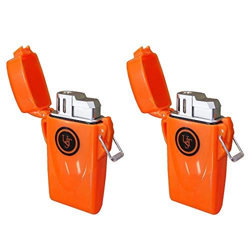 Ultimate Survival Technologies Stormproof Floating Lighter Orange 2-Pack