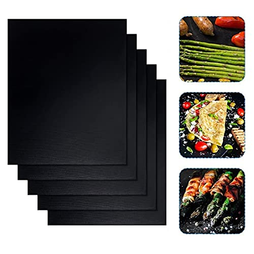 Dauerbackfolie Backfolie für Backofen 40x33cm (5er Set), Spülmaschinenfest, Backpapier wiederverwendbar