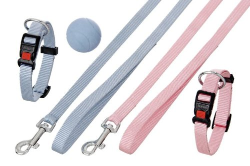Karlie Art Sportiv Plus Welpenhalsband & Leine L: 20 - 40 cm B: 15 mm blau
