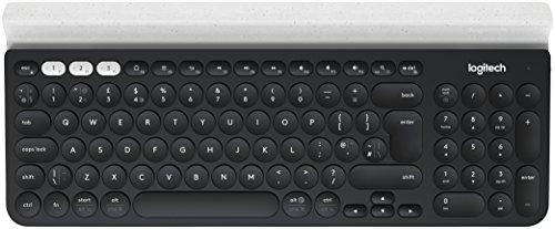 Logitech K780 Multi-Device Wireless Keyboard - Dark Grey/Speckled White -...