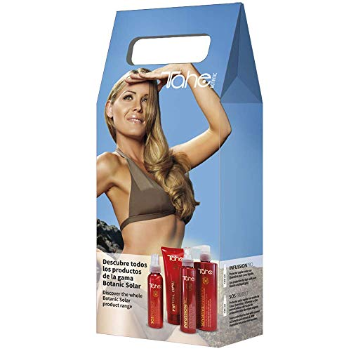Tahe Botanic Solar Pack Protección Para El Cabello Champú Sensitive 400 ml + Crema Fotoprotectora Protection 200 ml 350 G