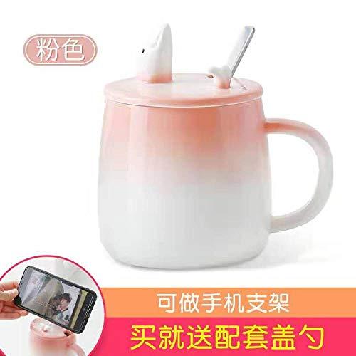 Keramik Mark Wasser Tasse Kaffee mit Deckel Löffel kreative Persönlichkeit Trend Kaffeetasse niedlich nach Hause