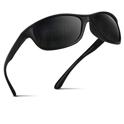 Occffy Lunettes de Soleil Polarisées Pour Hommes et Femmes, Sports Lunettes De Soleil Protection UV400 et Légères Pour Conduite Vélo Pêche Golf Et Activités D'extérieur TR54
