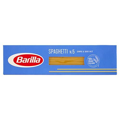 Barilla Pasta Spaghetti N.5, Pasta Lunga di Semola di Grano Duro, I Classici, 1kg
