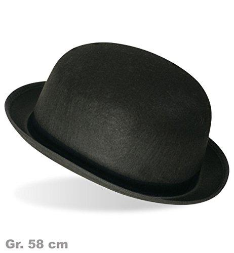 PARTY DISCOUNT ® Melone mit schwarzem Band schwarz Gr.56/58