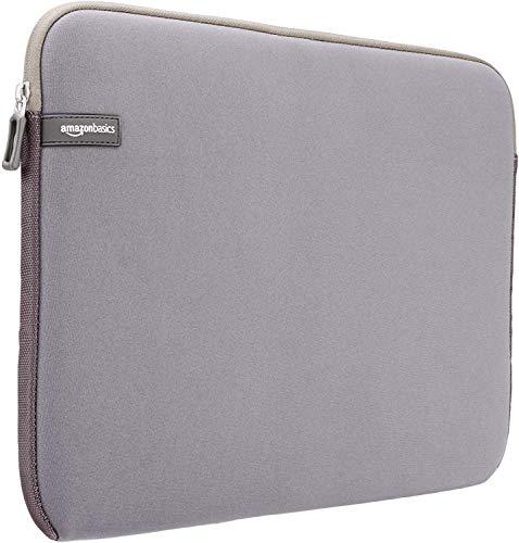 AmazonBasics Laptop-Schutzhülle, für eine Displaydiagonale von 15 - 15,6Zoll, Grau