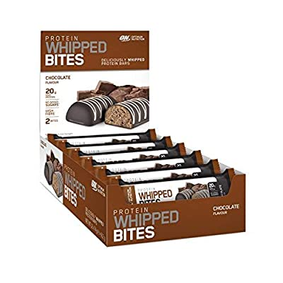 Optimum Nutrition Protein Whipped Bites made with Whey Protein Isolate, Whipped Protein Bars with 20g High Protein and no added sugars from OPTIMUM NUTRITION INC