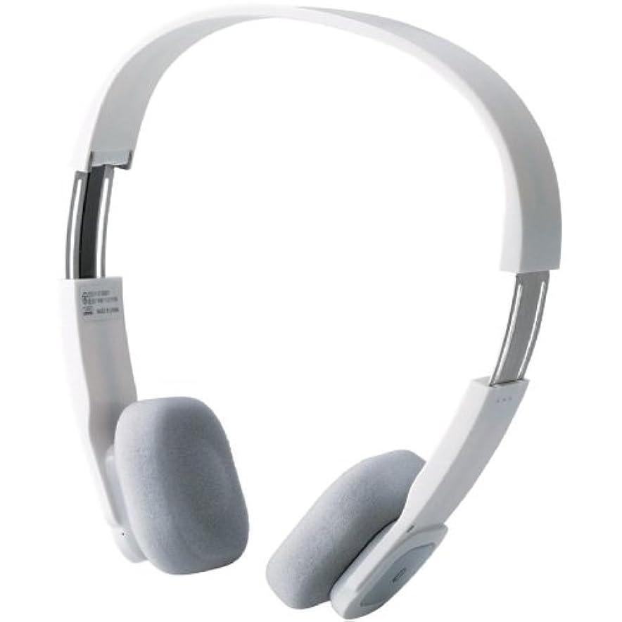 形容詞ページェント乗算Logitec iPhone5/4/4S/3GS/3G スマートフォン対応 Bluetooth ワイヤレスヘッドホン オーバーヘッド apt-X、AAC対応 ACアダプタ付き ホワイト LBT-MPOH02AWH