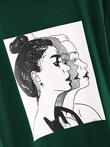 Fabricorn Plain Bottle Green Cotton Tshirt for Women (Bottle Green, Medium)