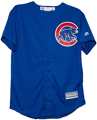 Majestic Athletic Chicago Alternate Blue Cool Base Youth Jersey (Youth XL 18-20)