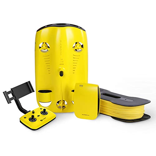 Cámara Submarino bajo el Agua Drone robótica 4K HD 100 Metros de Profundidad Buceo de Cable Miniatura Drone Equipo de natación de la visión en Tiempo Real/Streaming,100 m