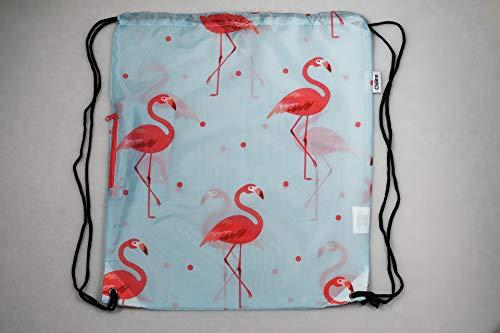 Chilino Rucksack Flamingo / Zusammenfaltbarer Rucksack mit Umtasche / Umweltfreundlich / 43 x 39 cm