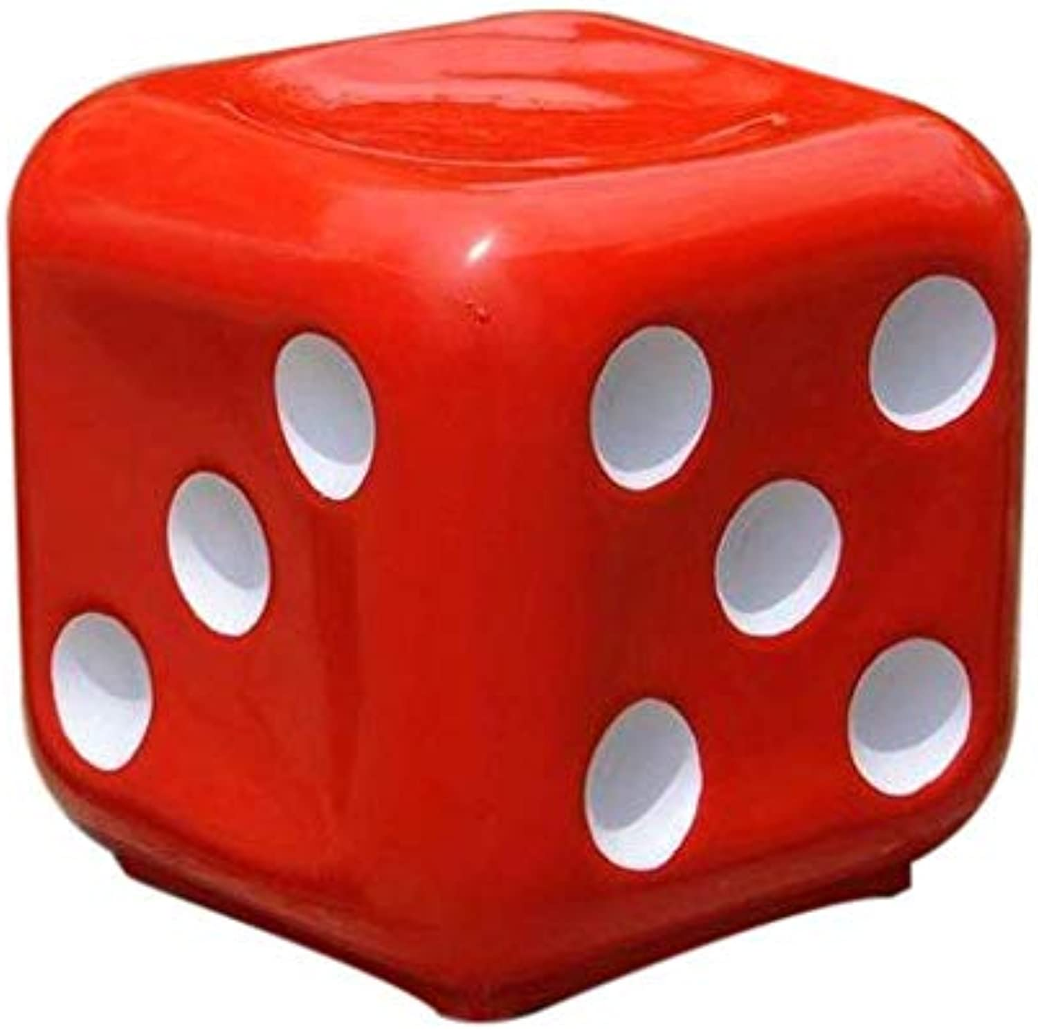 Stool DICE RED Premium Fiber Material Unbreakable Durable Dice Sitting Stool (Fiber) for Living Room Home Office Outdoor Stool with Anti-Skid Rubber  Stool with Sturdy Compact and Stylish.