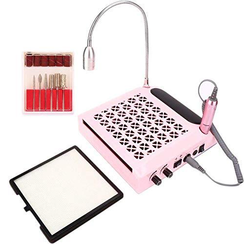Taladro de uñas eléctrico y colector de polvo de uñas, 80W 4...