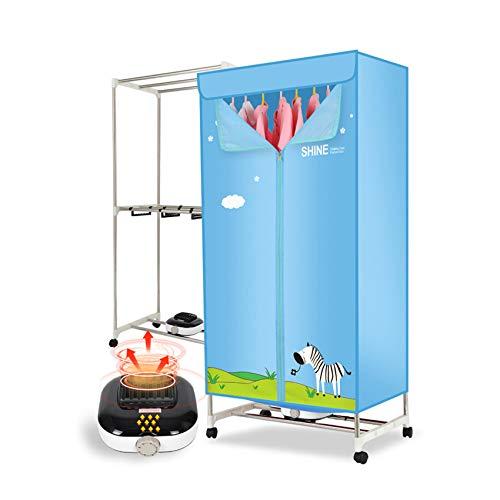 MIAO. Secadora de Ropa eléctrica 1000W Acero Inoxidable de Acero Inoxidable 20kg Energía eficiente en el Aire Caliente de Secado de Aire Caliente con Estante de Toalla