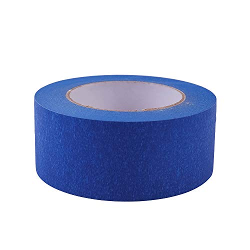 """4 Pack 2"""" x 60 yd Blue Painter's Tape, Easy - Tear, Pro - Grade Removable Masking Tape for Basic Painting, 4 Rolls, 240 Total Yards Photo #3"""