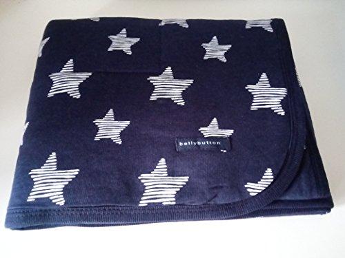 Bellybutton Babydecke Krabbeldecke Newborn Blau/Marine Sterne