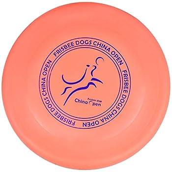 Demason Frisbee Chien en en Caoutchouc, 23 cm Disque Frisbee Jouet Flottant Dog Frisbee Résistant, Dressage de Chiens pour Extérieur (Orange)