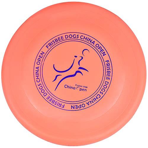 Demason Frisbee Hund, Hundefrisbee, Frisbee Flyer Hundespielzeug aus Kautschuk, Ø 23cm Hunde Scheibe Soft Rubber Disc Hundetraining für kleine und mittelgroße Hunde(Orange)