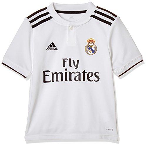 adidas Kinder 18/19 Real Madrid Home Trikot, core White/Black, 152
