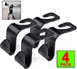 Peppermint Cafe 4 Pack HEADREST CAR Hooks for CAR - Car Seat Hooks are The Perfect Car Seat Organizer | Ideal Car Accessories for Women, Teens and Men