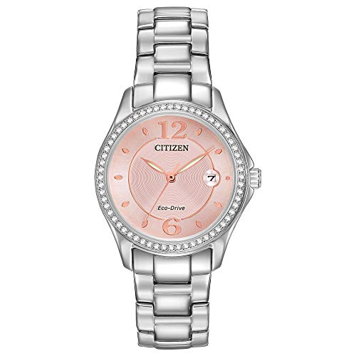 Citizen Eco-Drive Classic Quartz Womens Watch, Stainless Steel, Crystal, Silver-Tone (Model: FE1140-86X)